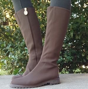 Donald J Pliner Brown Stretch Riding Boots Size 7